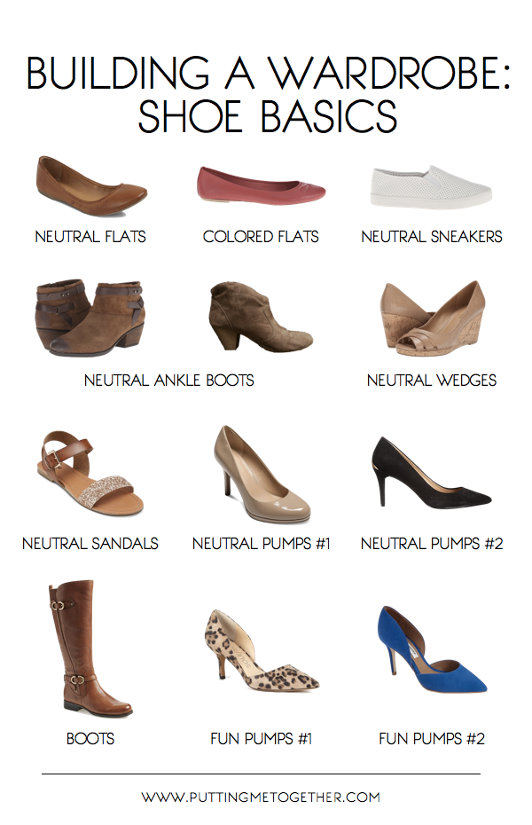 basic shoes for starting a wardrobe